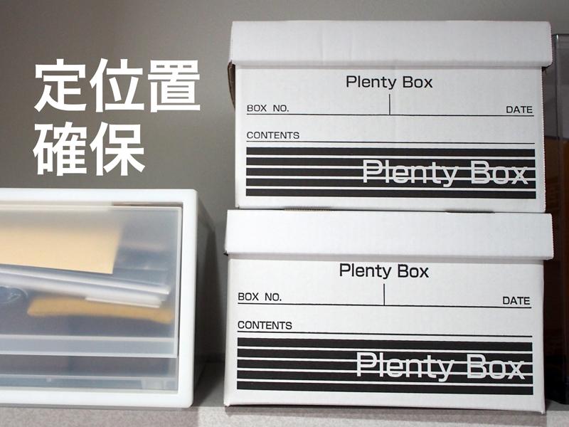 定位置に置いたボックス