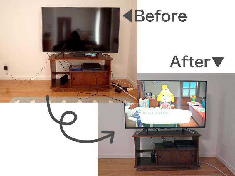 テレビの配線